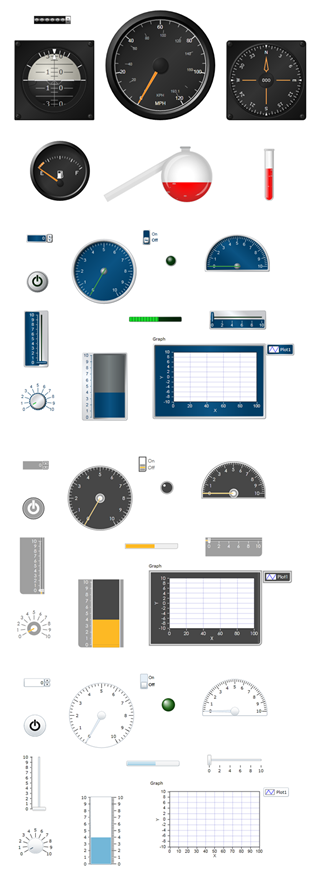 NI LabVIEW Web UI Builder Controls and Themes